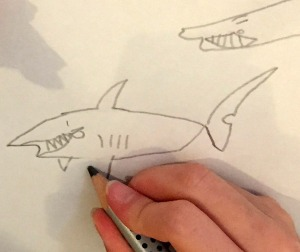 It's fun to draw a sea creature - drawing a shark