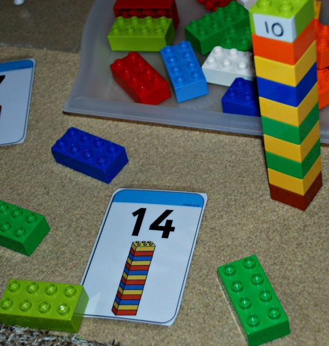 Lego number cards from Twinkl