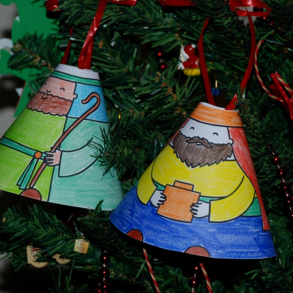 Cone People Christmas tree decorations