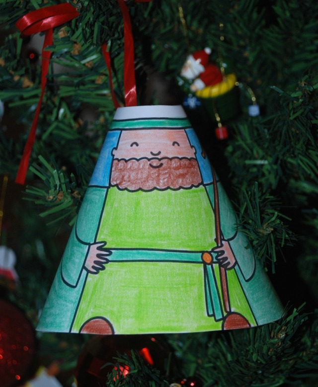 Nativity Cone People hanging on the Christmas tree