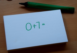 number bond booklet a new sum on each card