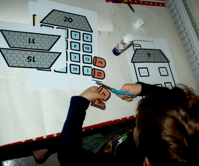 build a house maths activity from Twinkl for addition and multiplication