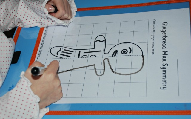Complete the Gingerbread man on grid paper