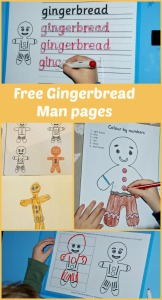 Free to download Gingerbread Man pages from Activity Village