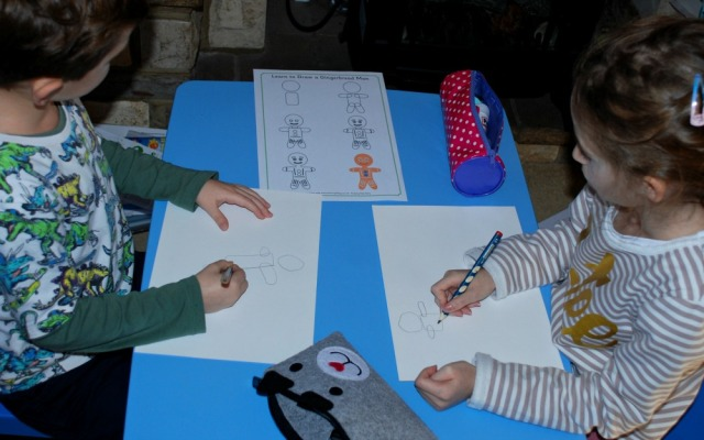 Gingerbread Man Activity - how to draw a gingerbread man page