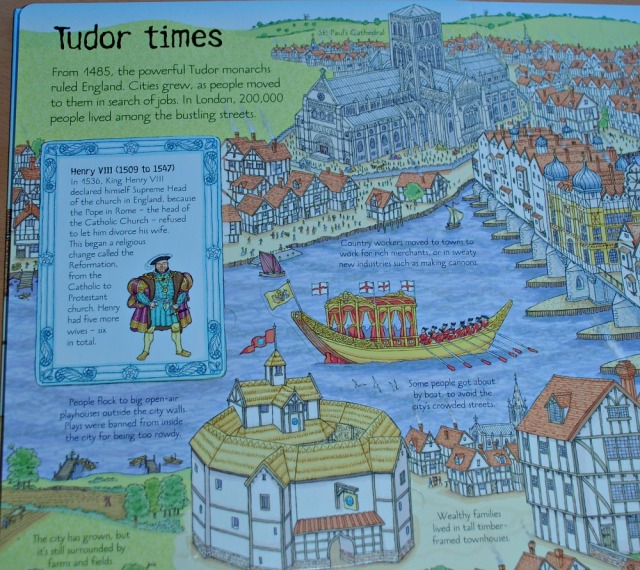 Usborne See Inside the History of Britain Tudor Times page