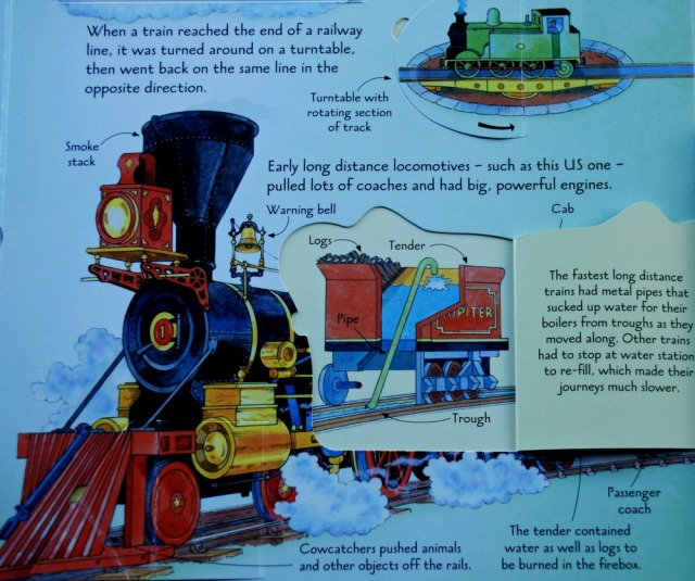 Usborne See Inside Trains - trains throught history with diagrams and explanations of how they worked