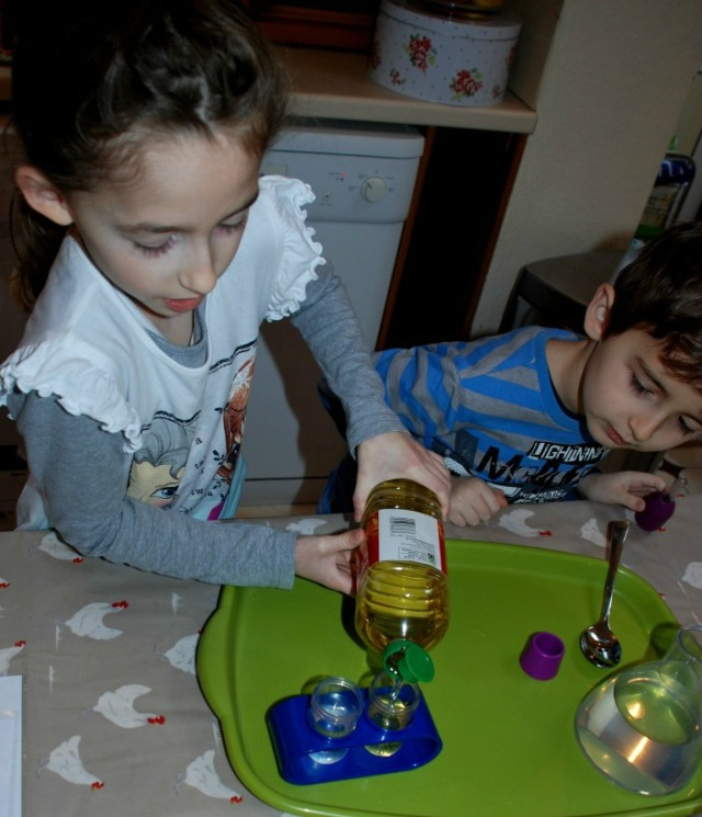 Performing science experiments at home using the learning resources lab set