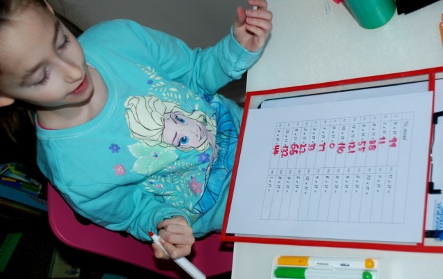 times table practice pages created by ofamily learning together