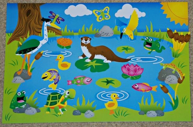 Baker Ross Pond Sticker Scene