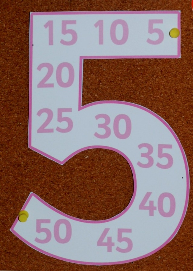 Free To download from Twinkl, Number Multiple Posters perfect for helping kids with their skip counting