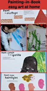 Painting-in-book.  Easy art activity for home.  Children complete the pictures contained in the book.  stunning.  Excallent quality