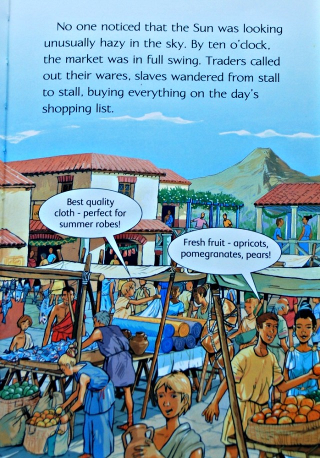 Usborne Young Reading series book - Pompeii. Describes what life would have been like before the volcano errupted