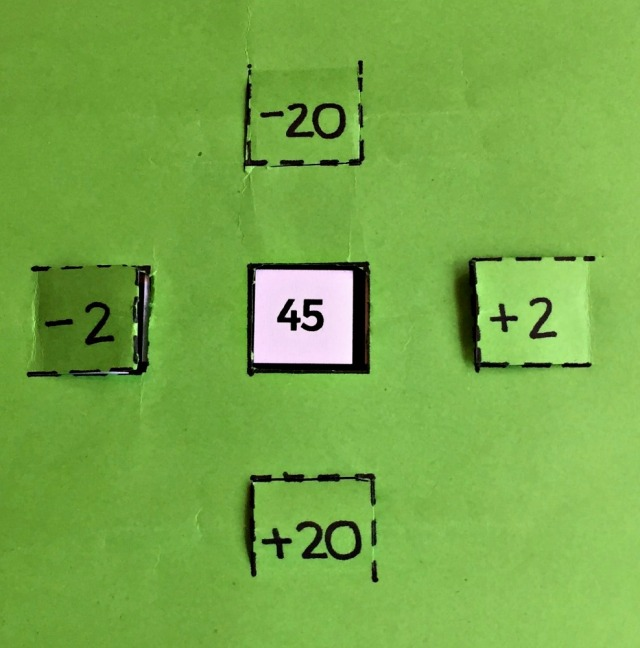 Working out sums with -2,+2,-20,+20 using a 100 square