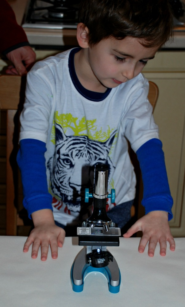 Microscope in the home encourages young kids to explore new topics