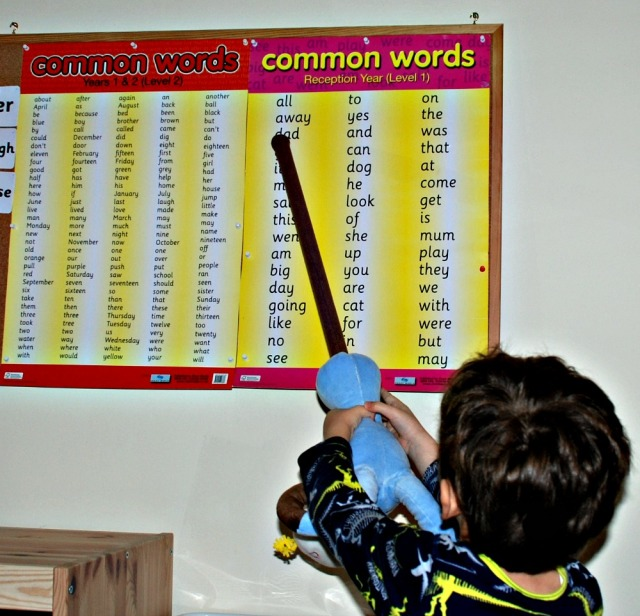 Common Word Poster activities for children to practice reading.