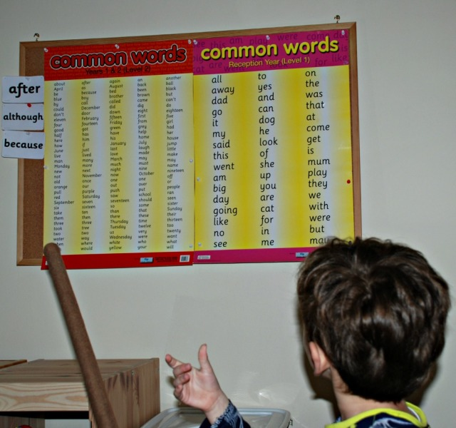 Common Word posters level 1 and level 2. High frequency words