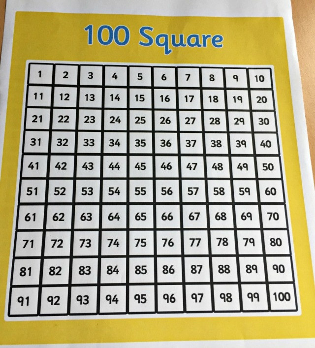Free to download 100 square from Twinkl. A must have resource for Maths activities
