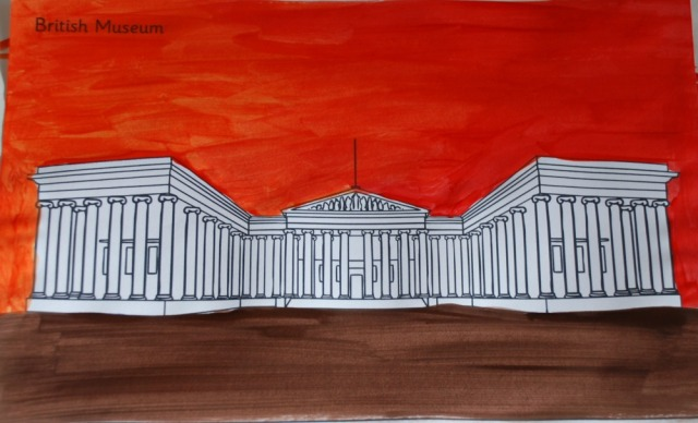 London Landmark art activity for children the British Museum