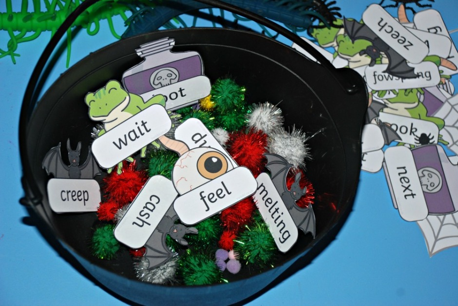Phonic word activity from Twinkl. Only the real words get added to the Real cauldron