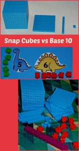 Using snap cubes verses using a base 10 set in Maths.  Which one is better suited