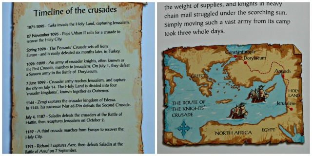The Usborne Young Reader book Crusaders includs a timeline and maps showing the routes