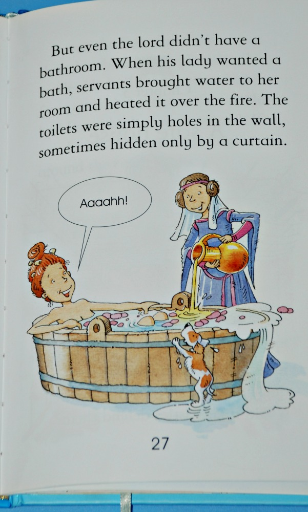 Usborne Reading Series 2. Inside page from the book Story of a Castle