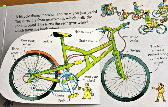 Usborne See Inside How Things works includes a bicycle