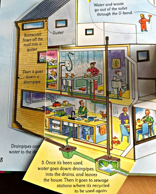 Usborne See Inside How Things works includes en axplanation of the water system in a house