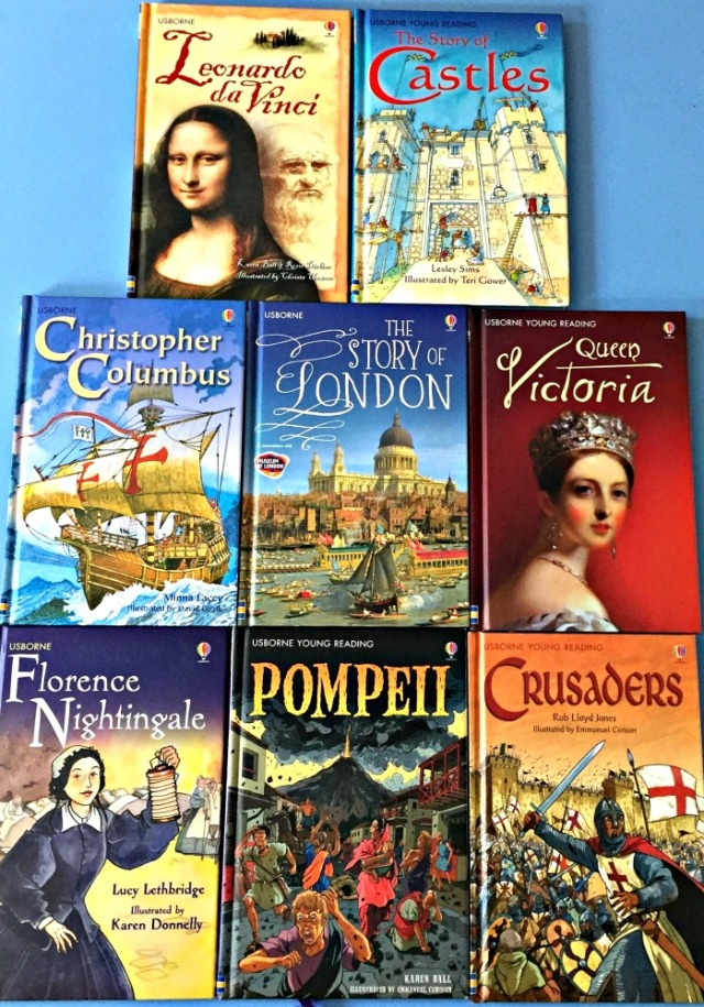 Some of the History books included in the Usborne Young Reading series. Excallent books for children.
