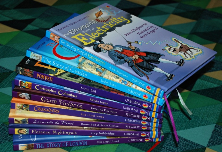 Usborne Young Reading series books which we use as part of our home education