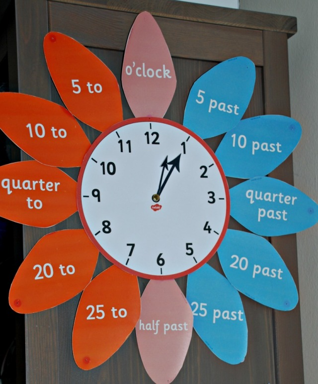 Analogue Flower Petal Clock from Twinkl Resources