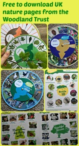 Free to download natture pages from the Woodland Trust. Perfect for nature walks with children