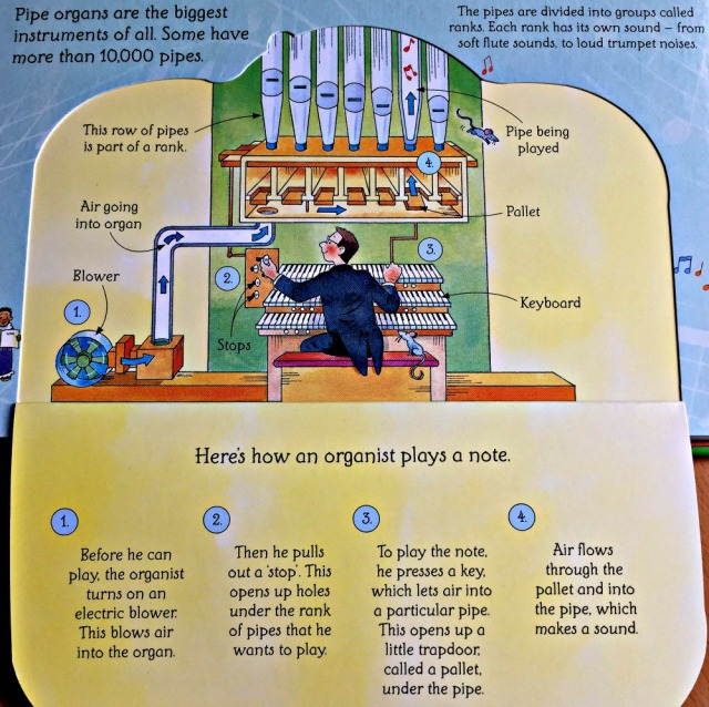 Usborne See Inside How Things Work. the Making music page includes how a pipe organ works