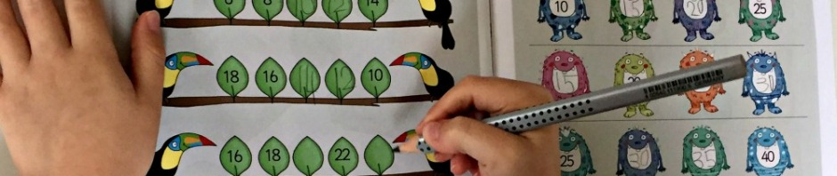 Collins Busy Ant Activity book 1B counting in 2's and counting in 5's