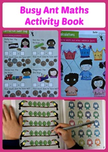 Busy Ant Maths Activity Book.  Primary aged maths resource.  Fun, colourful examples to try at home