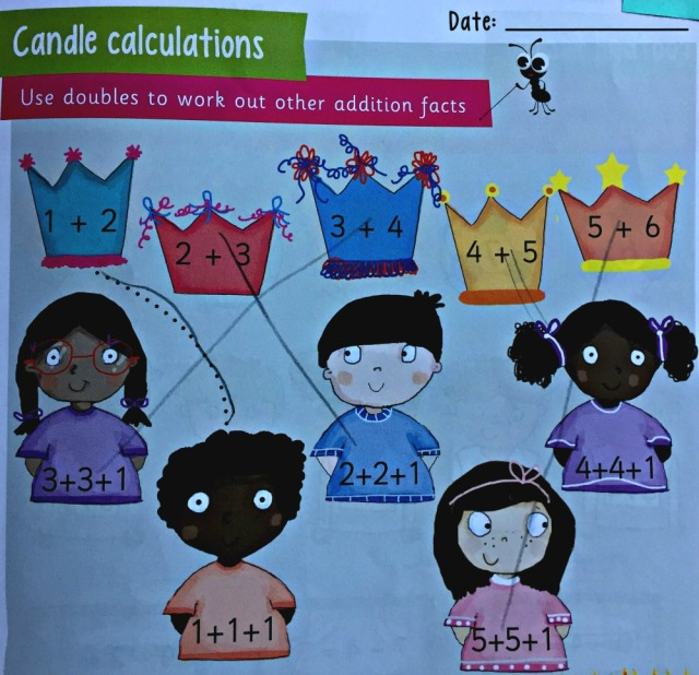 Collins Busy Ant activity Book 1B and example of one of the addition pages