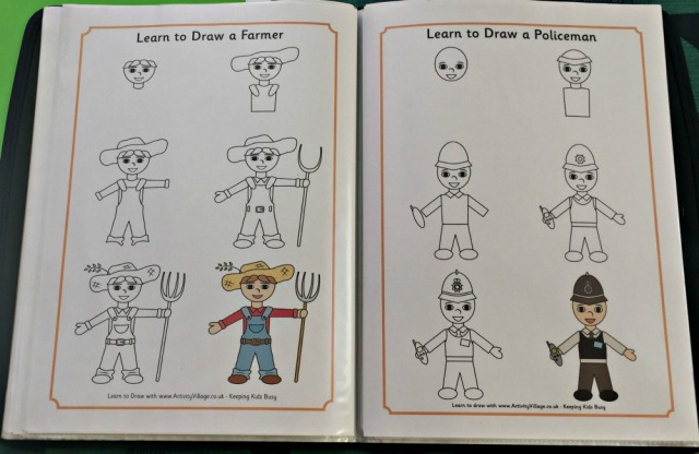 Create your own How To Draw book using the Activity Village How to Draw pages