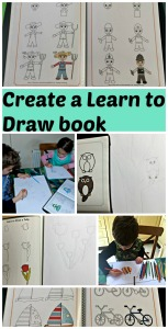 Create your own Learn to Draw book using pages from Activity Village