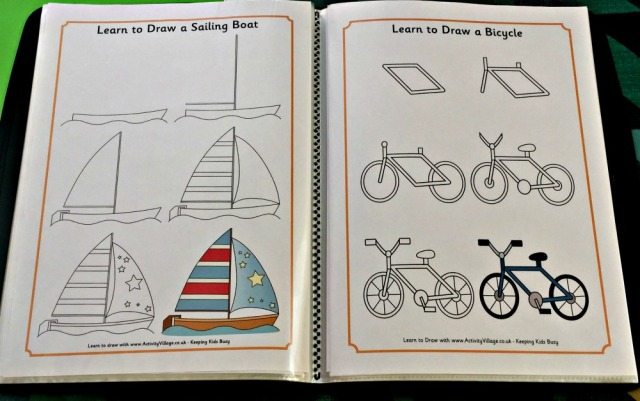 Using the Activity Village How to Draw oages to create your own drawing book