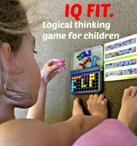 IQ FIT.  A logical thinking game for children.  Compact and easy to take out.  A great educational present