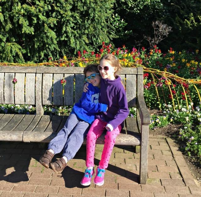 Kids at Wisley Gardens