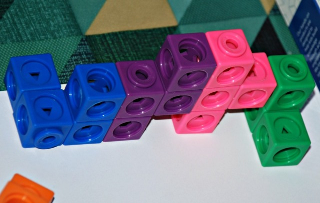 Mathlink Cubes starter set, you can snap the cubes together to build interesting shapes