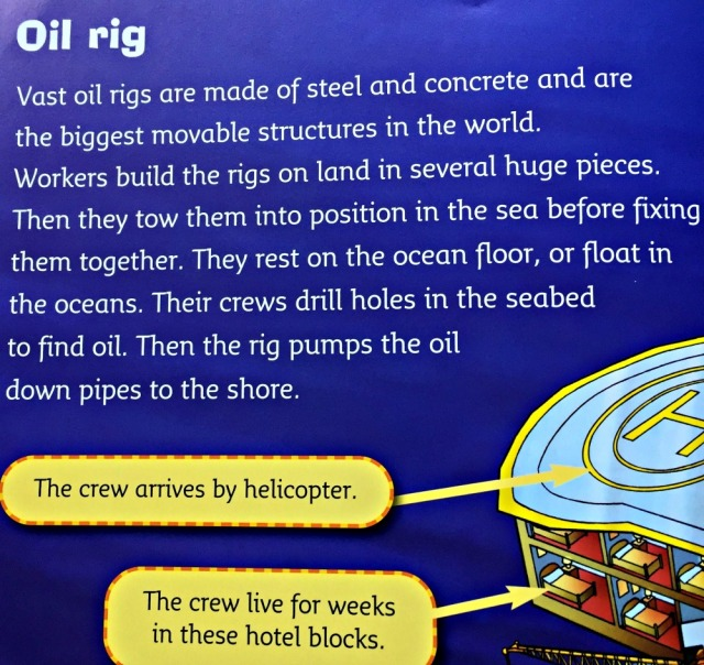 reading paragraph on the oil rig page part of the BIg CAT reader What's that Building