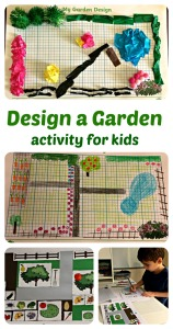 Design a Garden Activity for kids. Pages from Twinkl Resources including one Free to download cut and stick activity