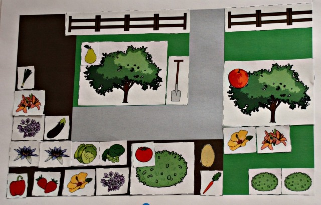 FREE to download Cut and Stick Garden Plan activity from Twinkl.