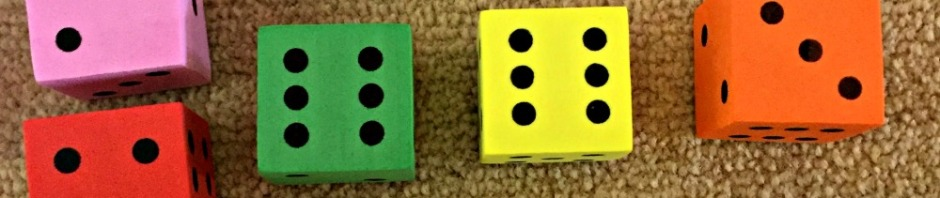 Grouping numbers together to make sums easier using foam dice