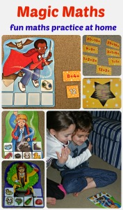 Magic Maths by Orchard Toys. A fun way to practice maths at home. answer the sums and collect ingredients