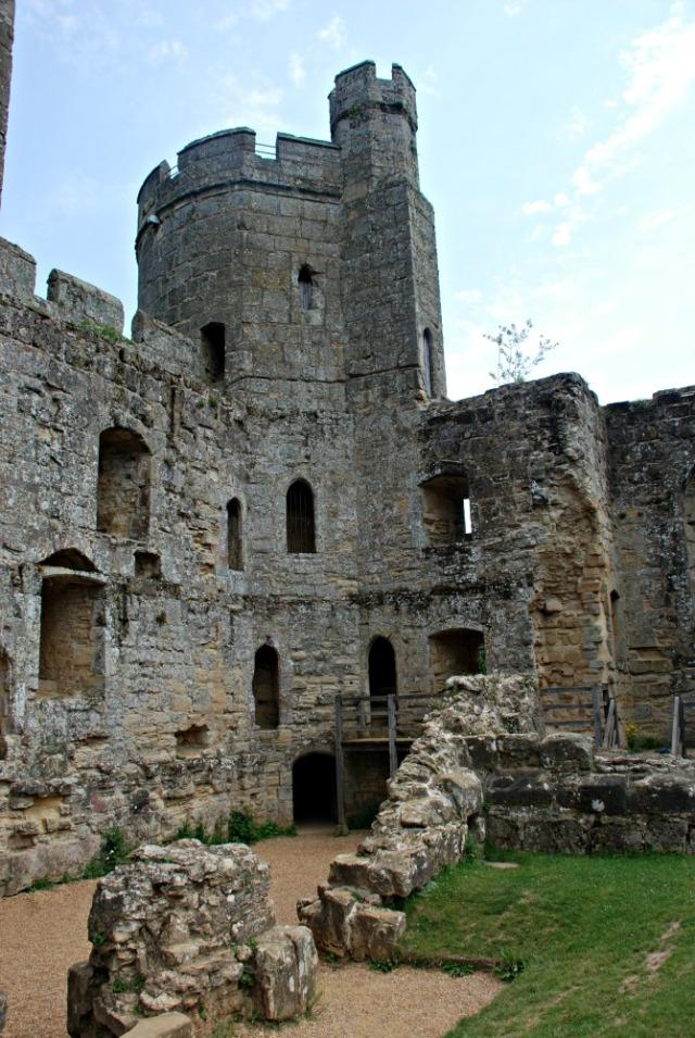 Bodiam Castle. Inside the castle walls. A stunning National Trust site