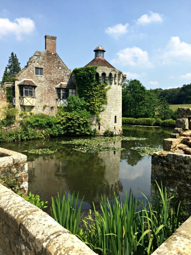 Scotney Castle. A National Trust Site in the UK. The old castle is in ruins but is surrounded by a moat and stunning gardens